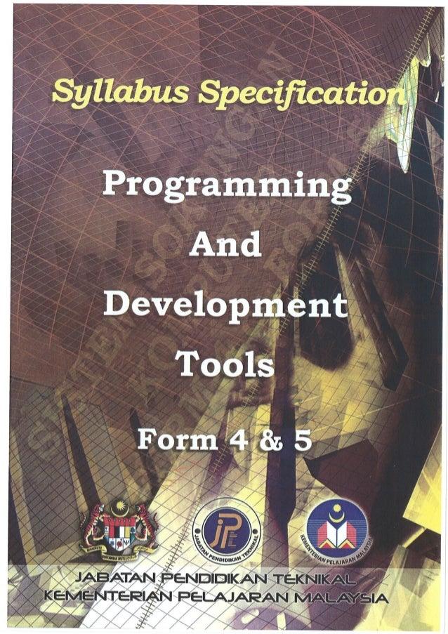 Huraian Sukatan Pelajaran Programming & d tools