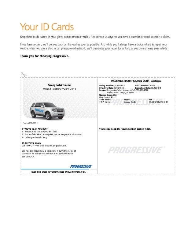 California Car Insurance Card Template PrintableCarPrintable