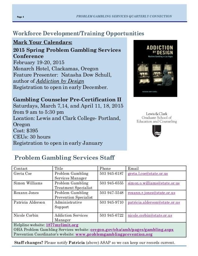 Gambling addiction portland oregon gambling program