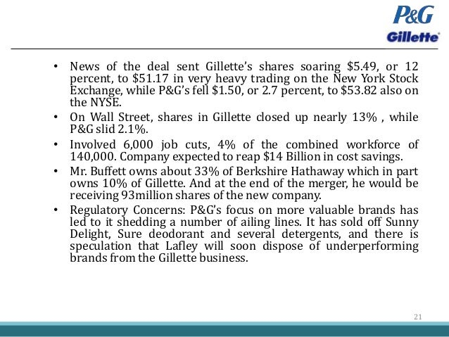 The P&G Acquisition of Gillette