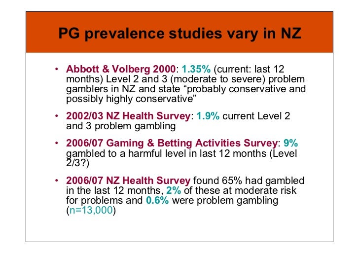 Problem gambling in new zealand - a brief summary casino san pablo poker room closed