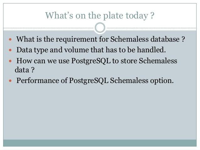 PostgreSQL as NoSQL Slide 2