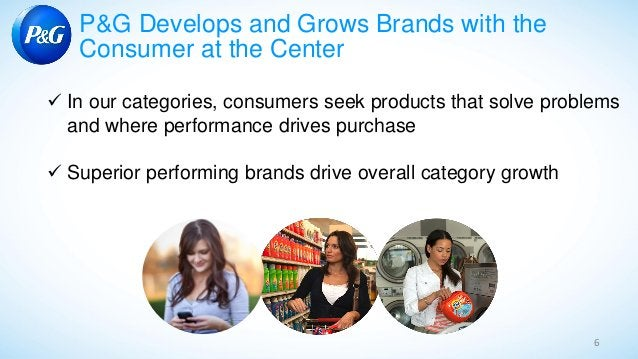 6 P&G Develops and Grows Brands with the Consumer at the Center ✓ In our categories, consumers seek products that solve pr...