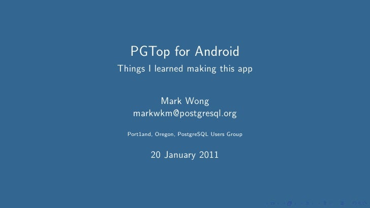 PGTop for Android: Things I learned making this app