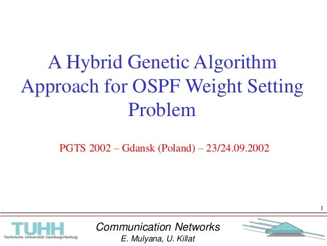 Communication Networks E. Mulyana, U. Killat 1 A Hybrid Genetic Algorithm Approach for OSPF Weight Setting Problem PGTS 20...