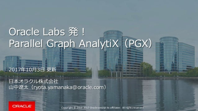 Copyright © 2016-2017 Oracle and/or its affiliates. All rights reserved. Oracle Labs 発! Parallel Graph AnalytiX(PGX) 2017年...