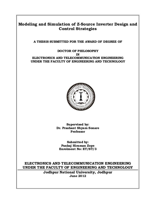 Phd thesis telecommunications
