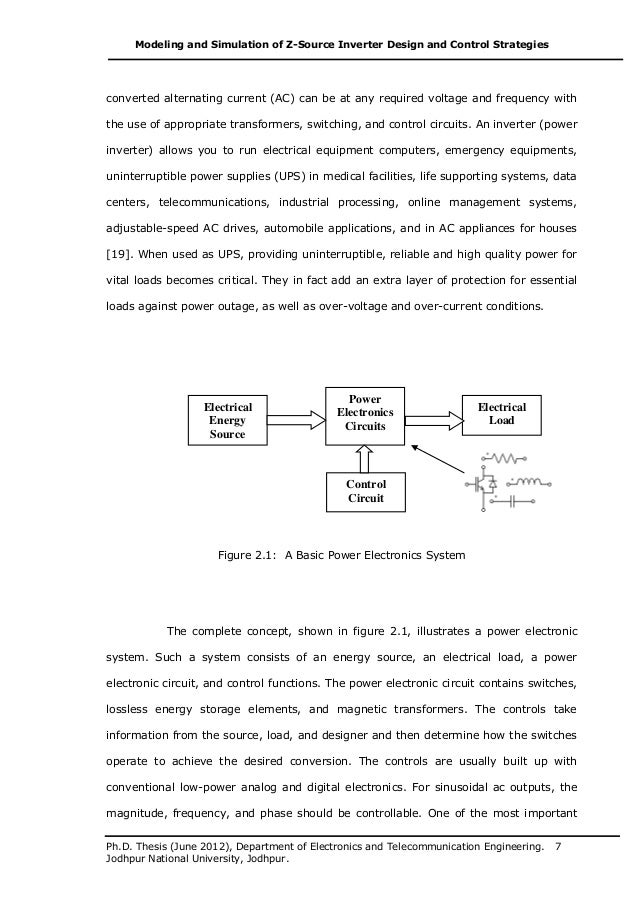 Modeling and simulation thesis
