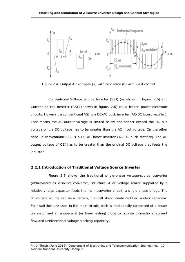 voltage source inverter thesis 4a : single phase vsi with square wave pwm theory procedure self evaluation simulator reference inverter in power-electronics refers to a class of power conversion circuits that.