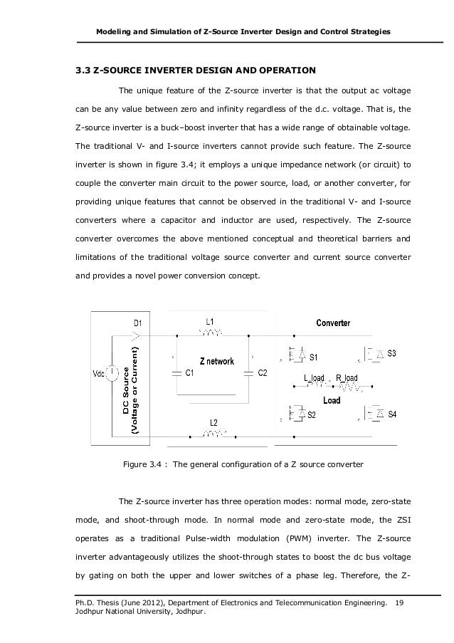 Z SOURCE INVERTER THESIS DOWNLOAD