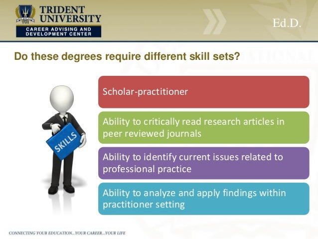 phd versus edd dissertation What's the difference between an edd and a phd in education  within education and give a dissertation to obtain their degree  in a phd in education versus.