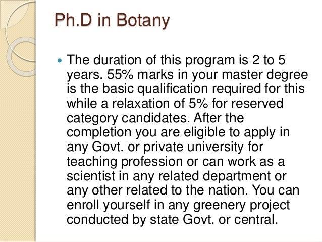 Phd botany thesis