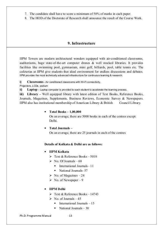 Ph d  manual