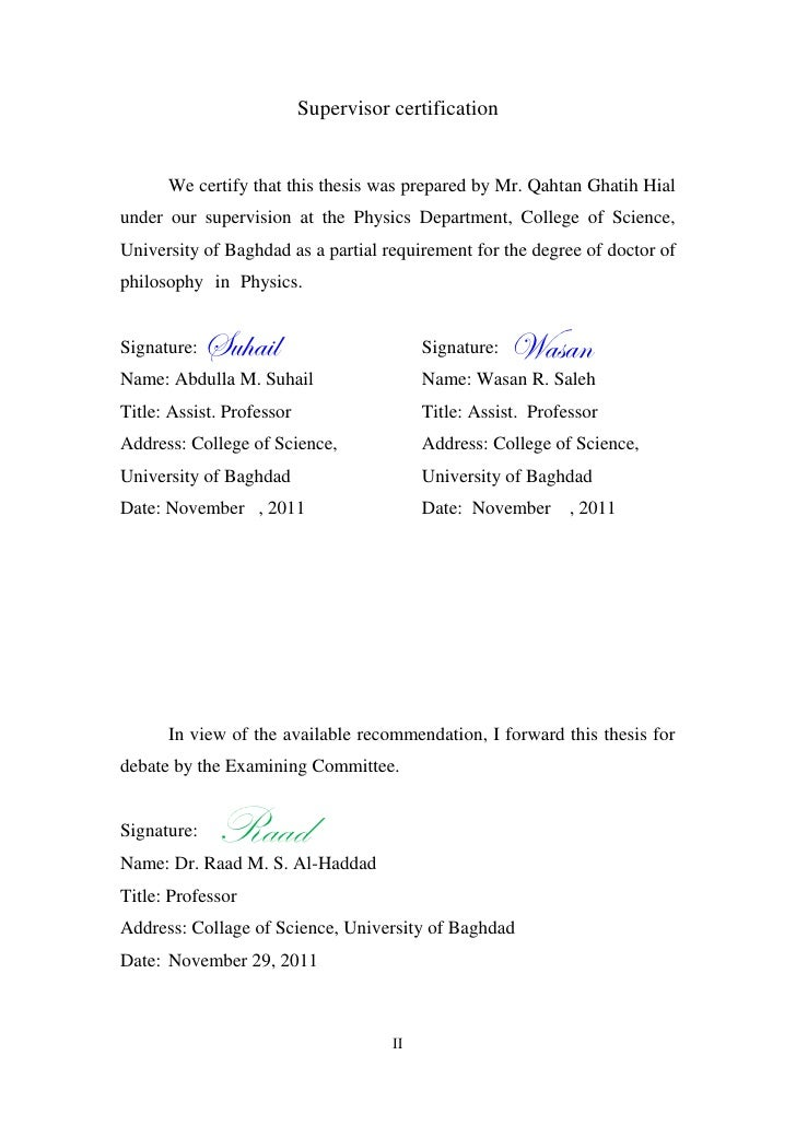 Phd thesis on zno