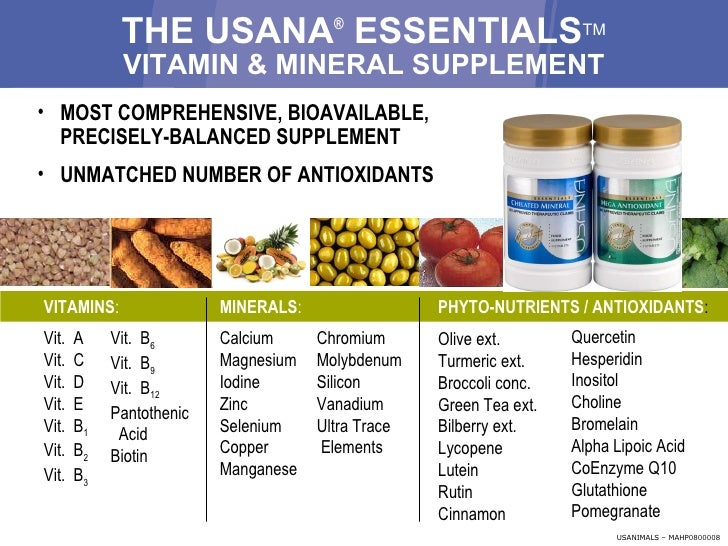 Usana Take Charge Of Your Health