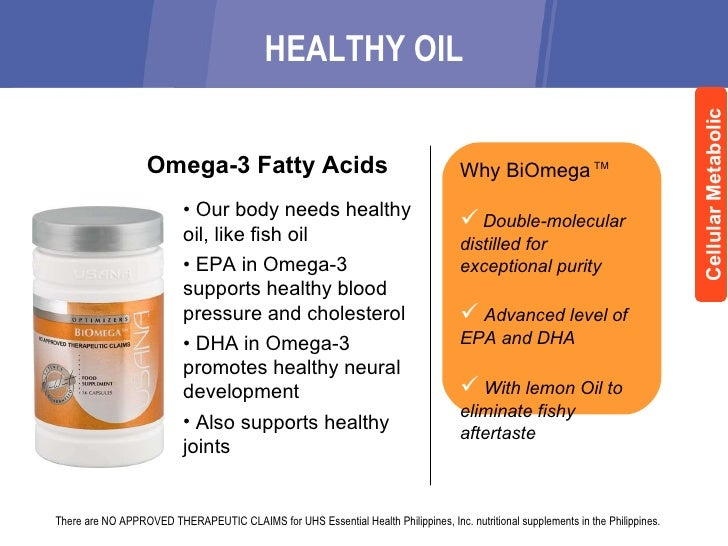 Usana take charge of your health for Usana fish oil