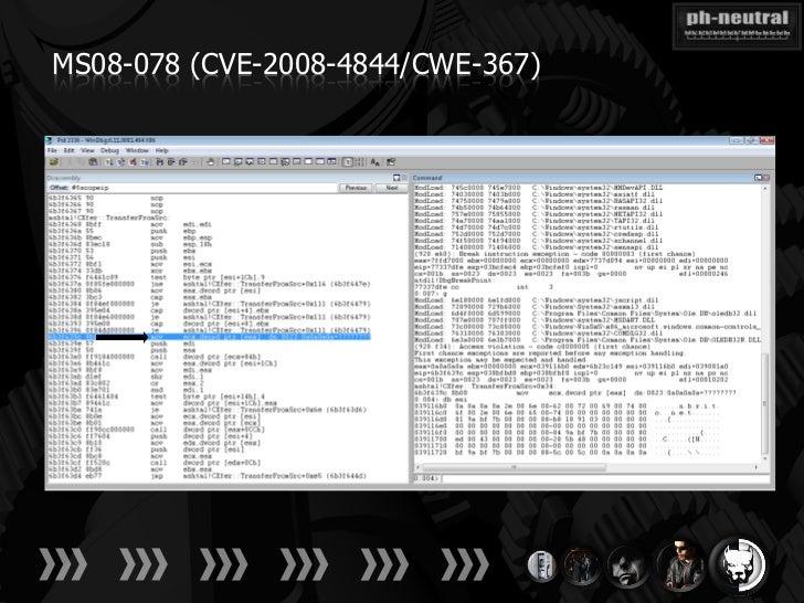 MS08-078 (CVE-2008-4844/CWE-367)