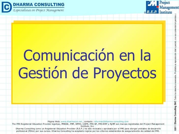 Comunicación en la Gestión de Proyectos