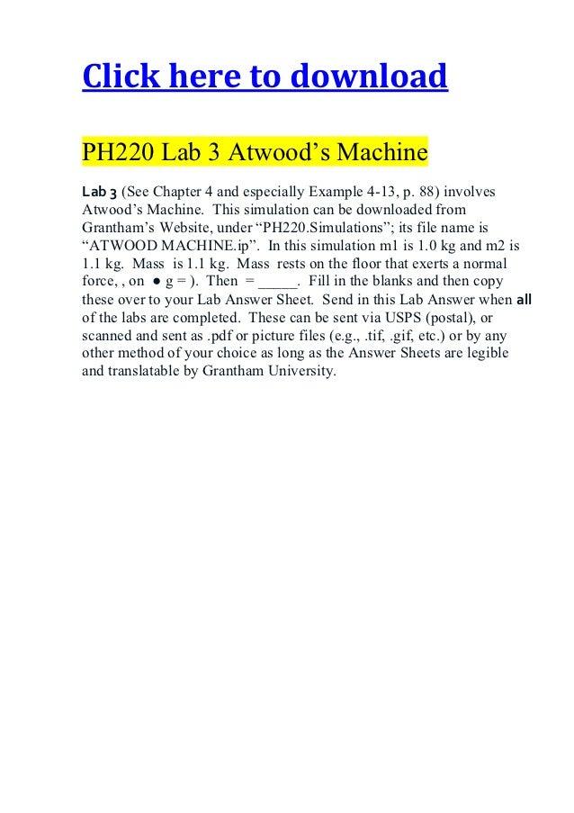 atwood s machine lab