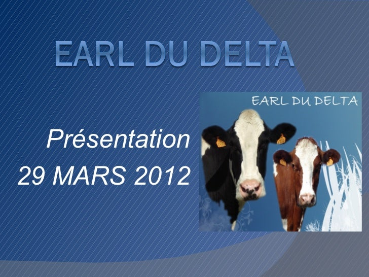 Présentation29 MARS 2012