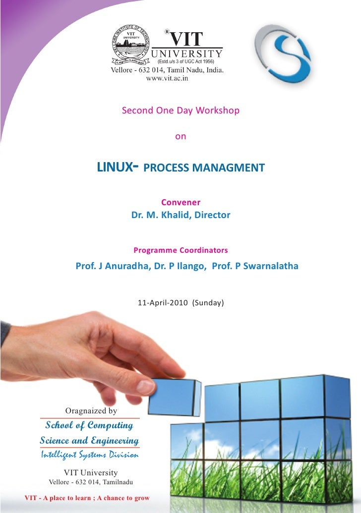 Second One Day Workshop                                                 on                          LINUX- PROCESS MANAGME...