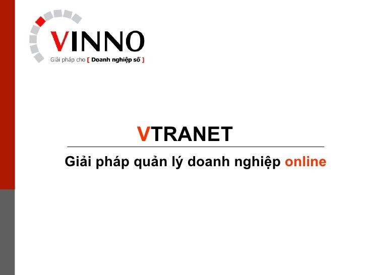 Giải pháp   quản lý doanh nghiệp   online V TRANET