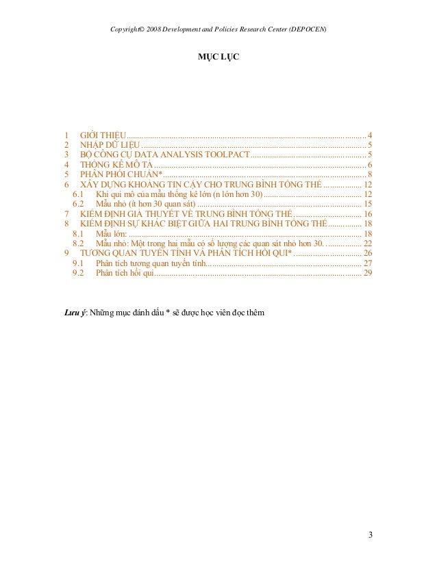 Copyright© 2008 Development and Policies Research Center (DEPOCEN) 3 MỤC LỤC 1 GIỚI THIỆU...................................