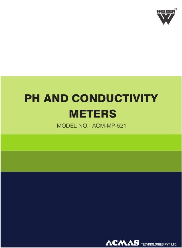 R  PH AND CONDUCTIVITY METERS MODEL NO.- ACM-MP-521