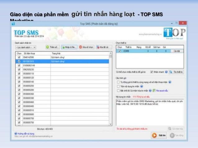 Phần mềm gửi tin nhắn hàng loạt miễn phí Slide 3