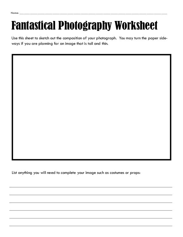 Printables Photography Worksheets photography worksheet hypeelite fantastical worksheet