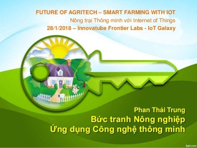 Phan Thái Trung Bức tranh Nông nghiệp Ứng dụng Công nghệ thông minh FUTURE OF AGRITECH – SMART FARMING WITH IOT Nông trại ...