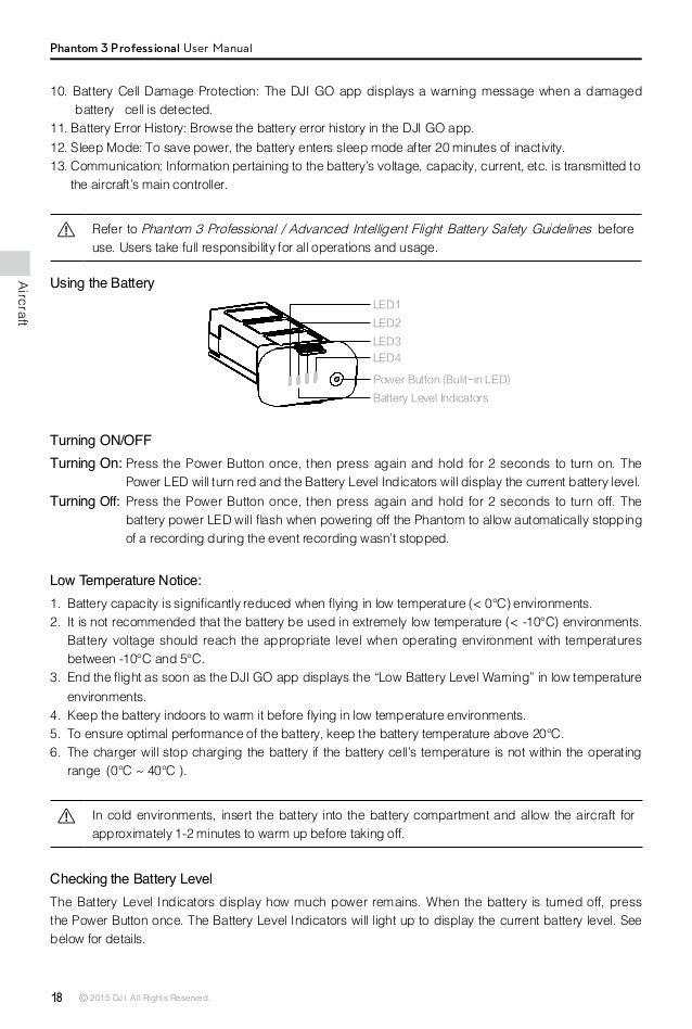 Dji Phantom P330d User Manual