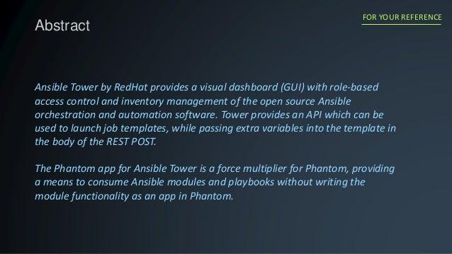 Phantom app: Ansible Tower