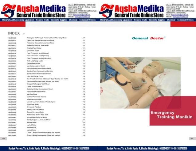 Phantom Alat Peraga Kesehatan General Doctor Product Catalog 2017-2018 – Hal.12
