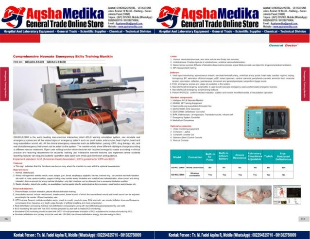 Phantom Alat Peraga Kesehatan General Doctor Product Catalog 2017-2018 – Hal.20