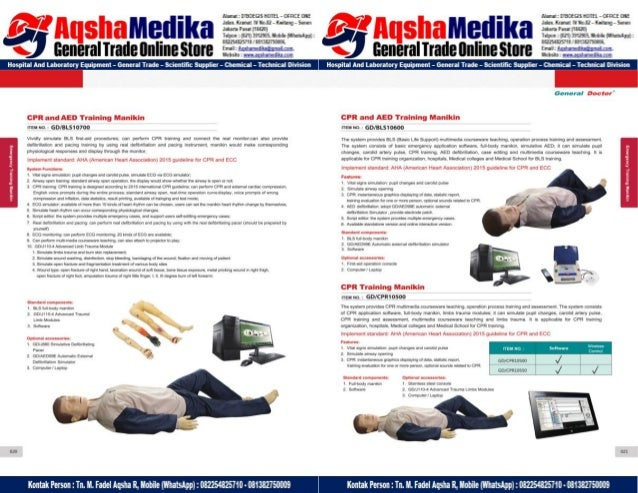 Phantom Alat Peraga Kesehatan General Doctor Product Catalog 2017-2018 – Hal.24