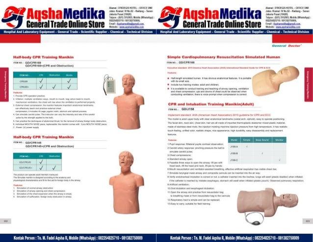 Phantom Alat Peraga Kesehatan General Doctor Product Catalog 2017-2018 – Hal.30