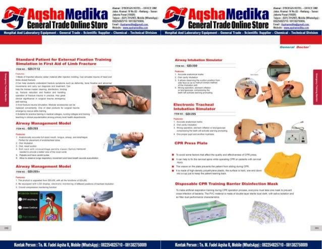 Phantom Alat Peraga Kesehatan General Doctor Product Catalog 2017-2018 – Hal.34
