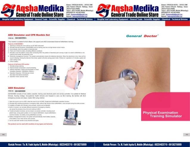 Phantom Alat Peraga Kesehatan General Doctor Product Catalog 2017-2018 – Hal.35