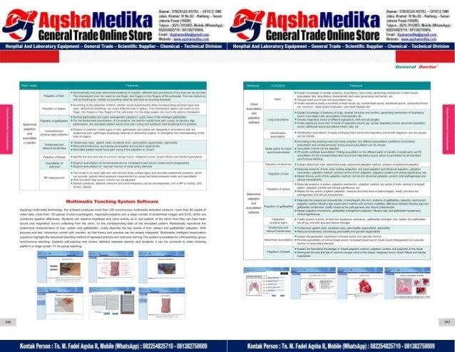 Phantom Alat Peraga Kesehatan General Doctor Product Catalog 2017-2018 – Hal.37