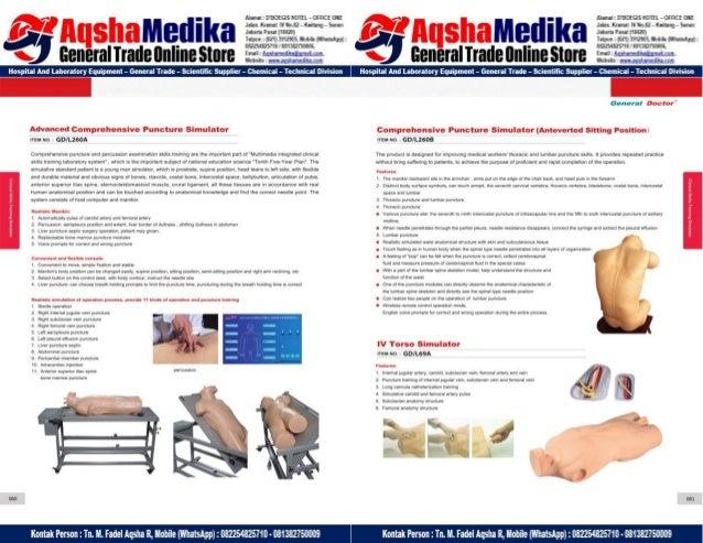 Phantom Alat Peraga Kesehatan General Doctor Product Catalog 2017-2018 – Hal.44