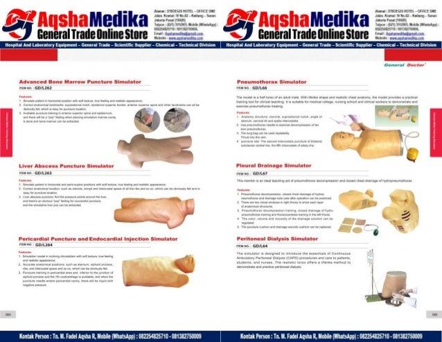 Phantom Alat Peraga Kesehatan General Doctor Product Catalog 2017-2018 – Hal.46