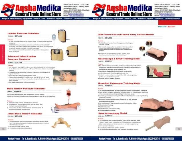 Phantom Alat Peraga Kesehatan General Doctor Product Catalog 2017-2018 – Hal.47