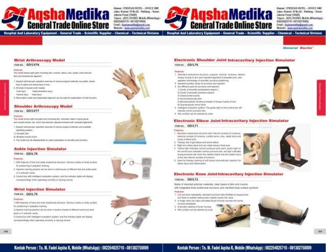 Phantom Alat Peraga Kesehatan General Doctor Product Catalog 2017-2018 – Hal.48