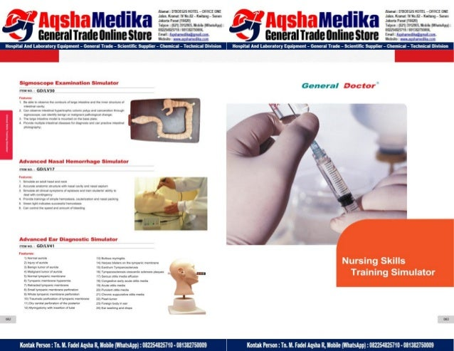 Phantom Alat Peraga Kesehatan General Doctor Product Catalog 2017-2018 – Hal.55
