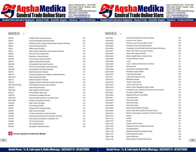 Phantom Alat Peraga Kesehatan General Doctor Product Catalog 2017-2018 – Hal.09
