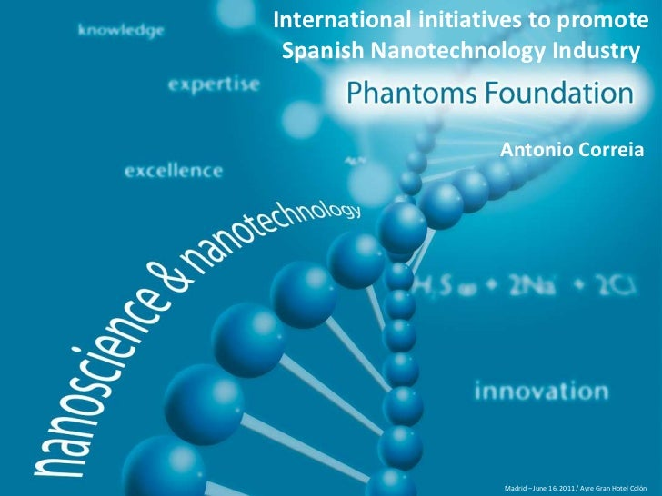 International initiatives to promote<br />Spanish Nanotechnology Industry<br />Antonio Correia<br />Madrid – June 16, 2011...