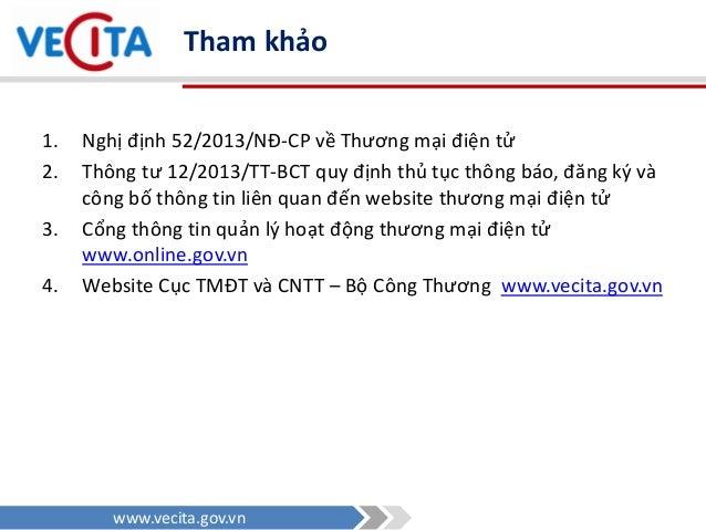 Nghị định 52/2013/NĐ-CP - Pháp luật Thương Mại Điện Tử ở Việt Nam Slide 2