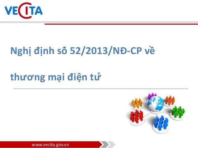 Nghị định 52/2013/NĐ-CP - Pháp luật Thương Mại Điện Tử ở Việt Nam Slide 3