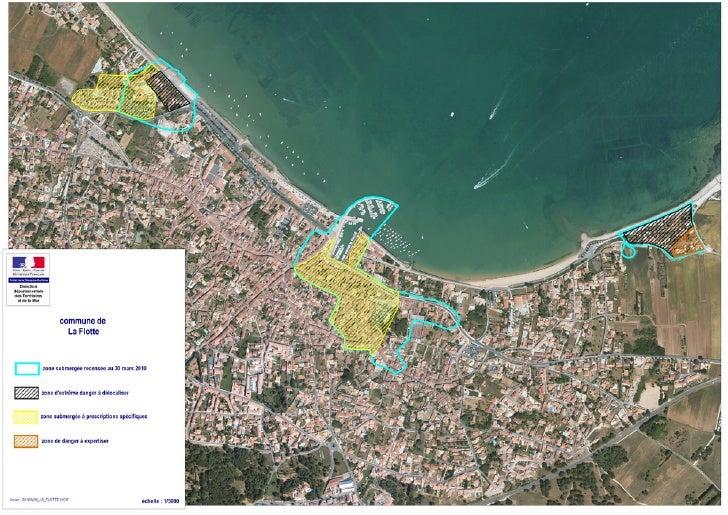 carte des zones noires - île de Ré